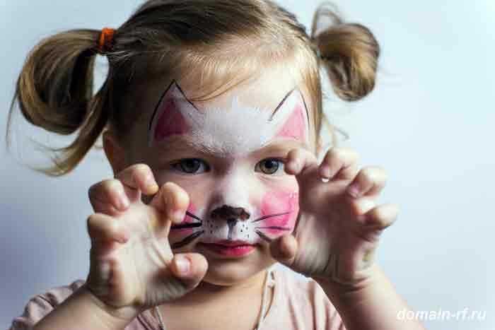 ребёнок, девочка, кошка