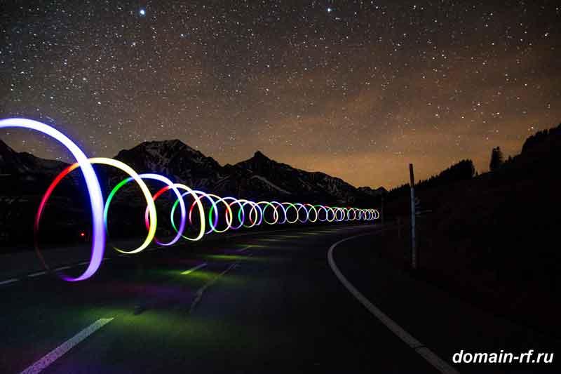 спираль, свет, ночь, it