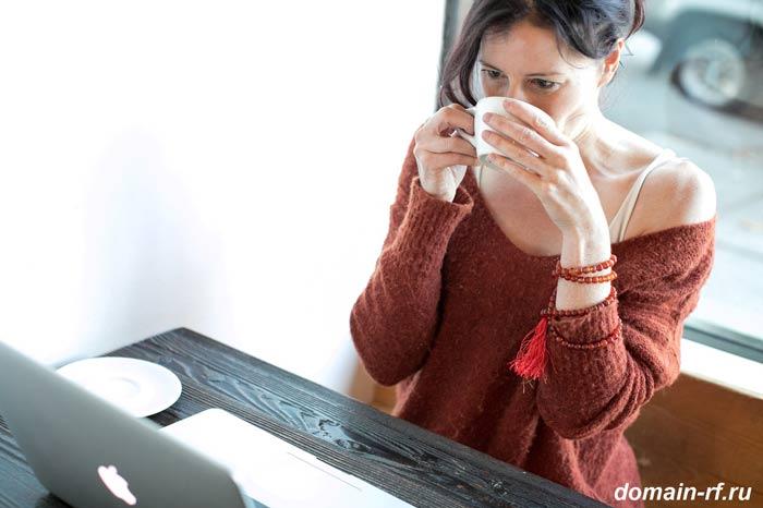 женщина, кафе, интернет, онлайн