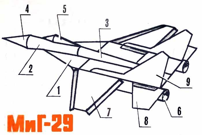 Самолёт СУ - 29, музей на столе, летающая модель из бумаги