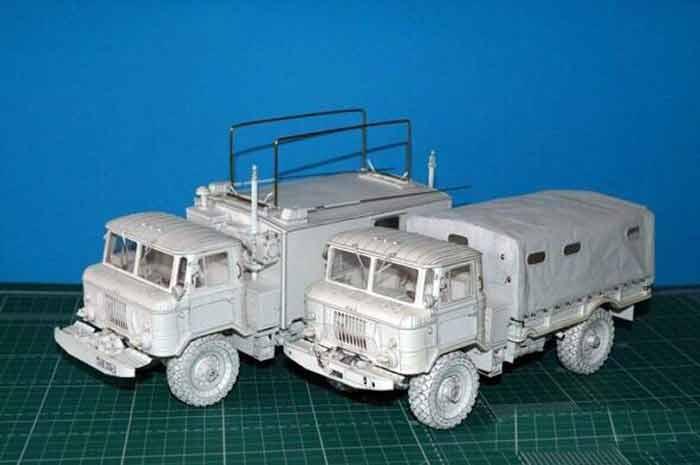 ГАЗ 66, модель из бумаги, музей на столе, 5 вариантов