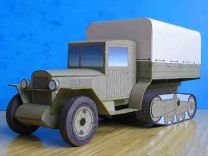 ЗИС 42, модель из бумаги, музей на столе