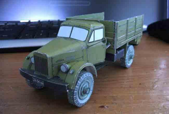 ГАЗ 63, музей на столе, модель из бумаги