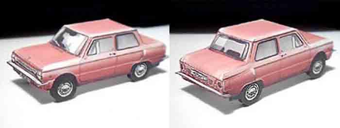 ЗАЗ 966, модель из бумаги, музей на столе