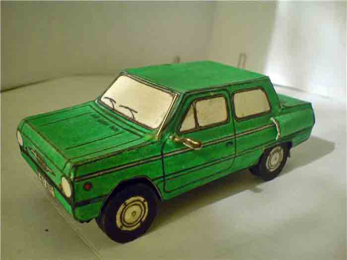 ЗАЗ 968, Запорожец, модель из бумаги, музей на столе