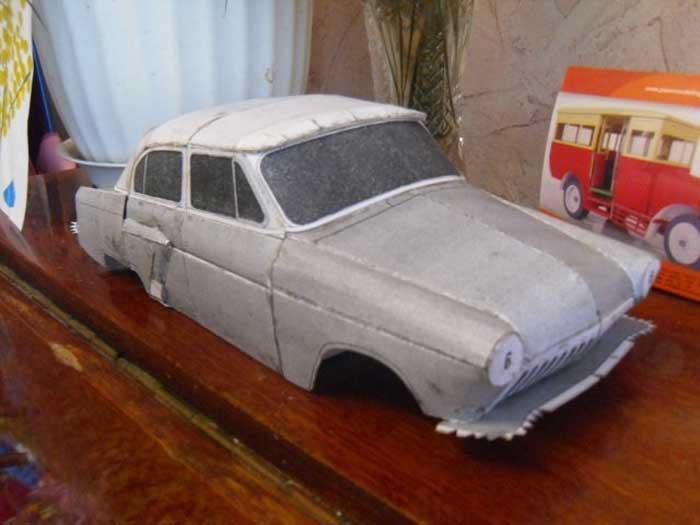 ГАЗ ПОБЕДА, музей на столе, модель из бумаги