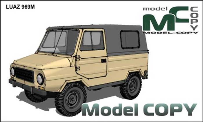 ЛУАЗ 969, модель из бумаги, музей на столе