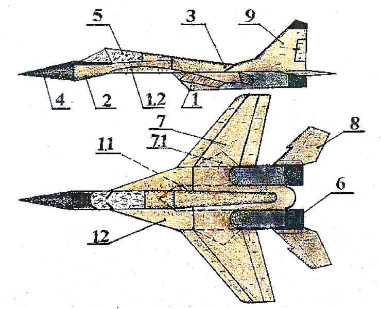 Миг-33, музей на столе, самолёт из бумаги
