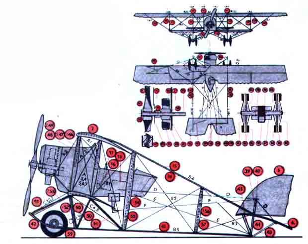 Самолет G 111, модель из бумаги, музей на столе