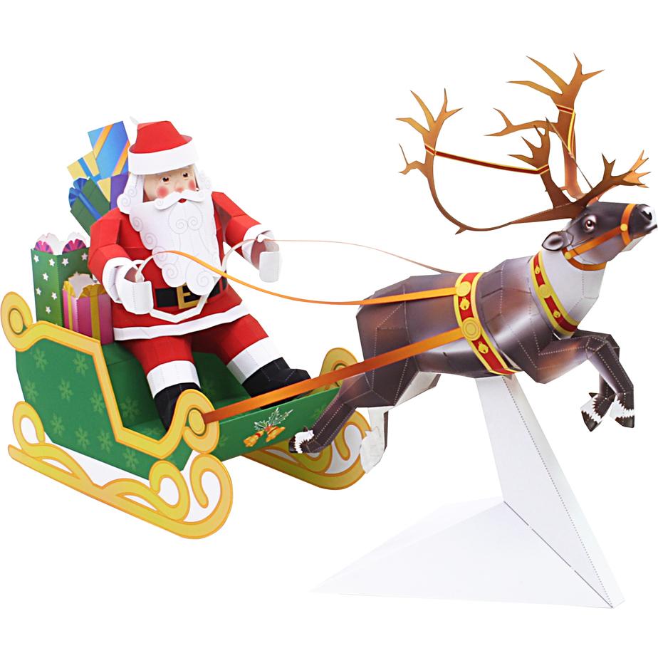 Набор с Дедом Морозом модель из бумаги