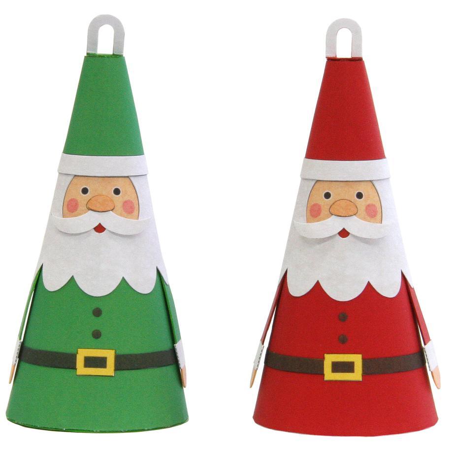 Дед Мороз - игрушка на ёлку из бумаги