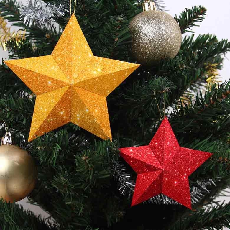 Новогодние звёзды, игрушки из бумаги на новогоднюю ёлку
