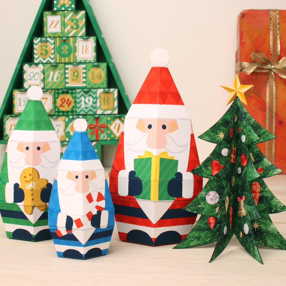 Миниатюрное произведение искусства : Рождественская елка из бумаги