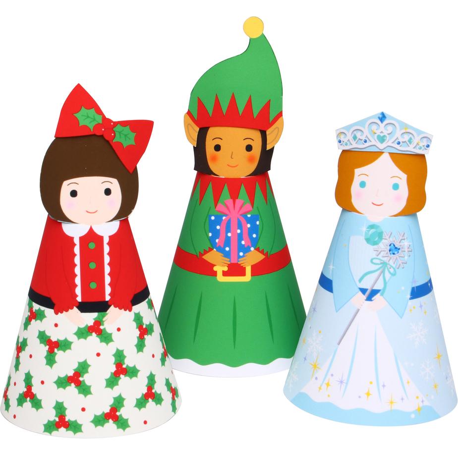 Объемные куклы в нарядах : Новый год