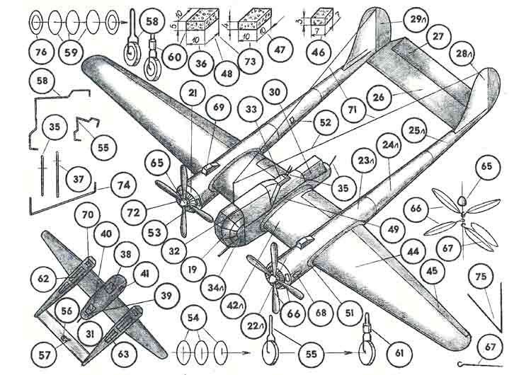 СУ - 12, самолёт, модель из бумаги, музей на столе