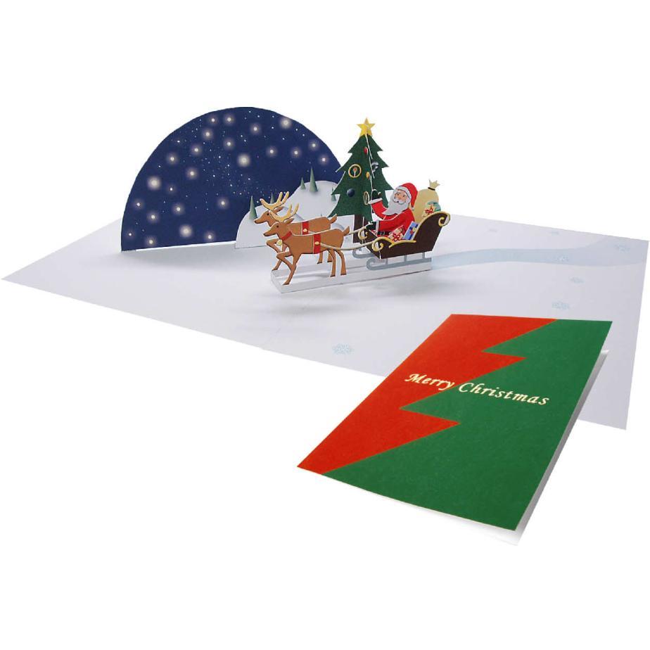 Объёмная открытка Дед Мороз своими руками
