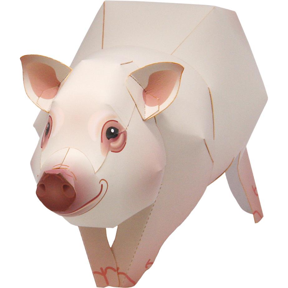Свинка из бумаги