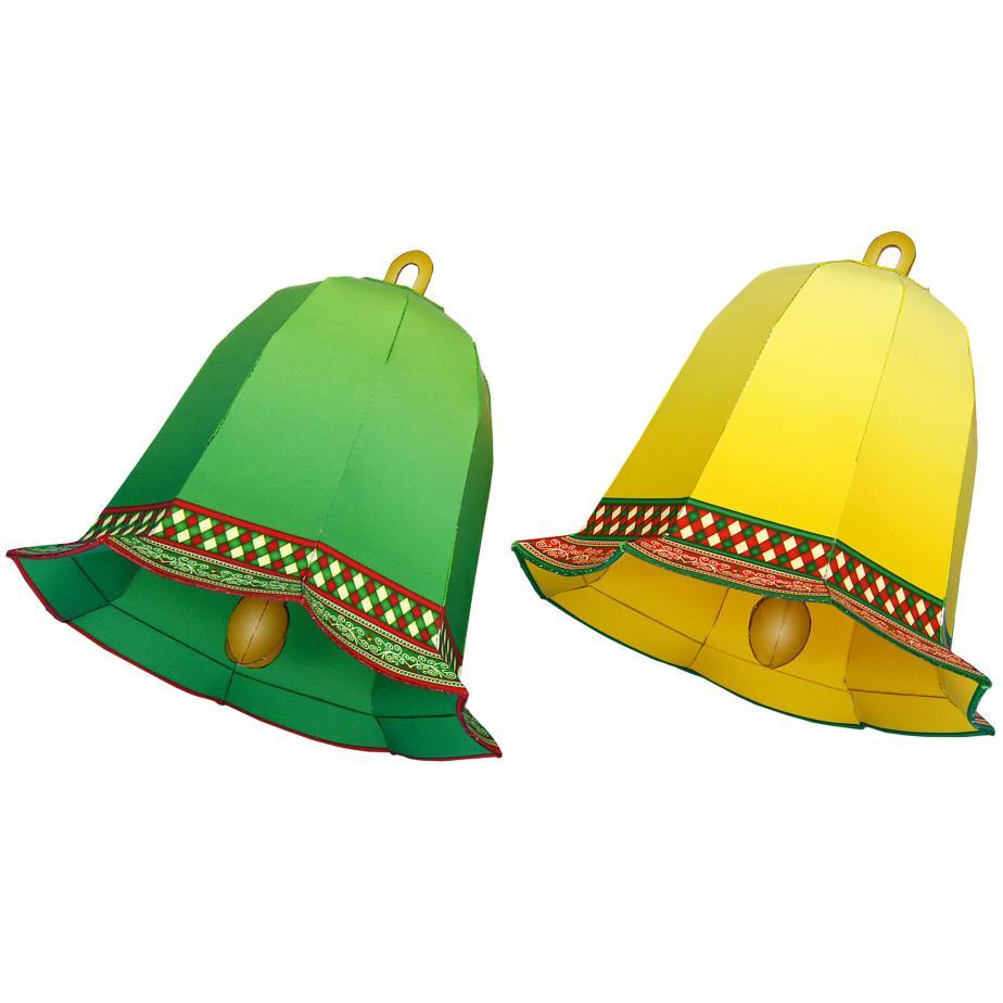 Новогодние колокольчики, украшение ёлки из бумаги