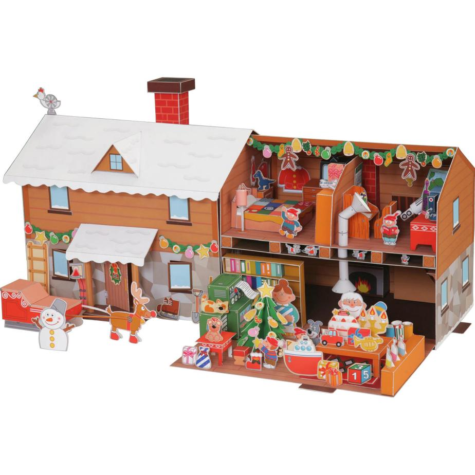 Дом Деда Мороза, поделка из бумаги