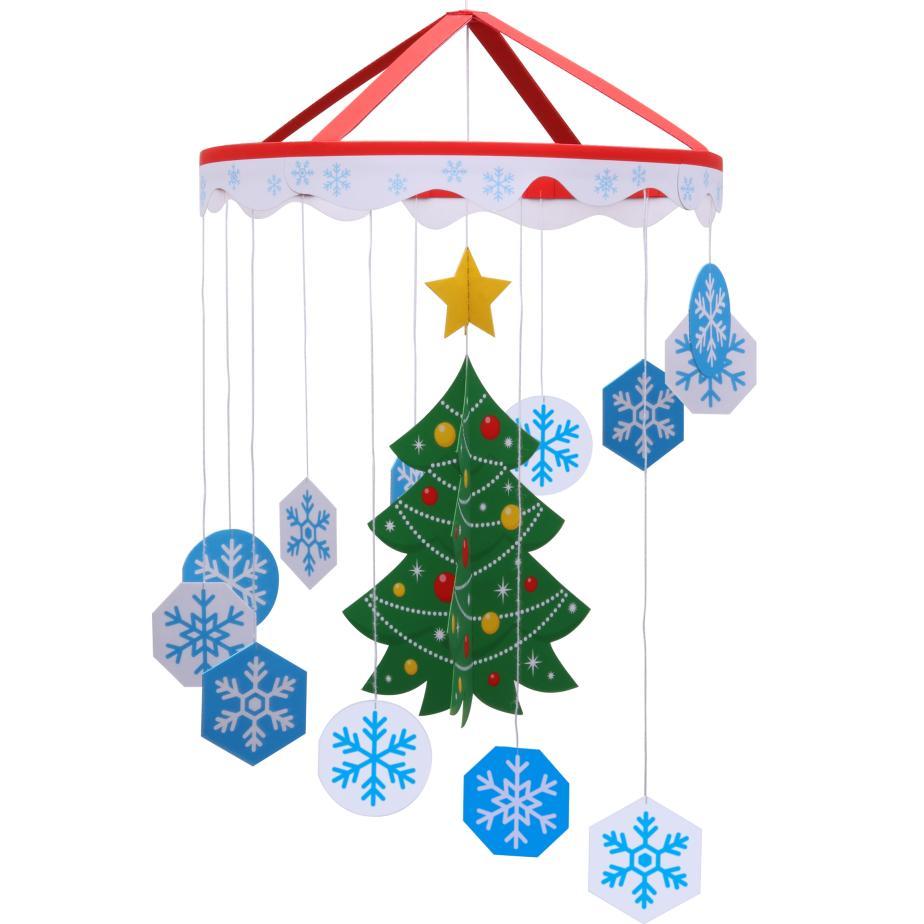Мобиль новогодний из бумаги