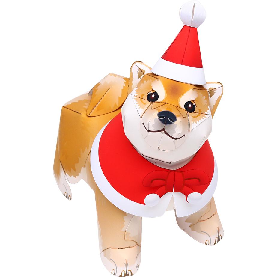 Собачка Сиба-ину (Новый Год) из бумаги своими руками