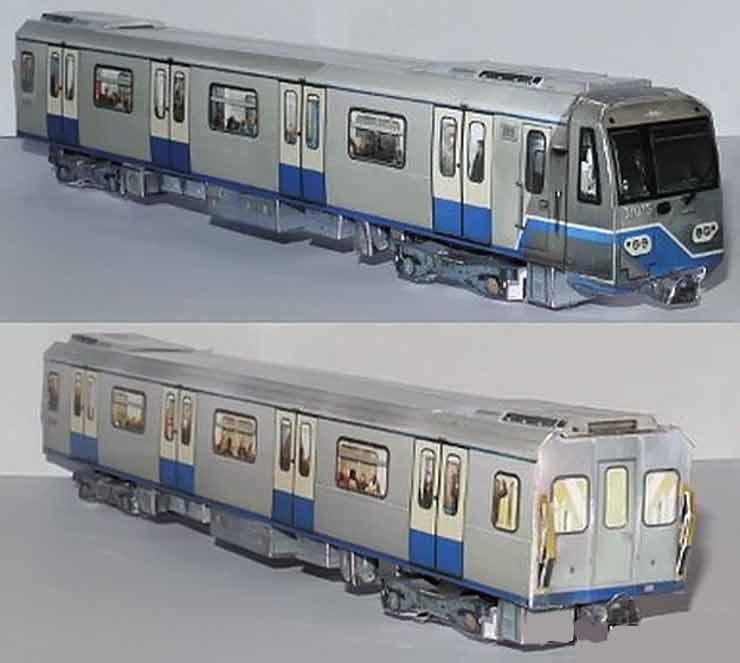 Метровагон, вагон метро из бумаги, музей на столе