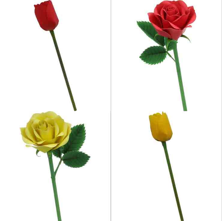 Роза, тюльпан, цветы из бумаги