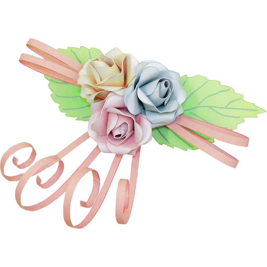 Миниатюрные розы из бумаги