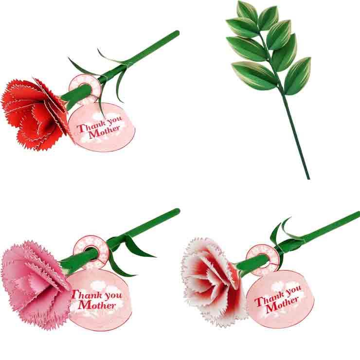 Гвоздика, Купена, цветы из бумаги