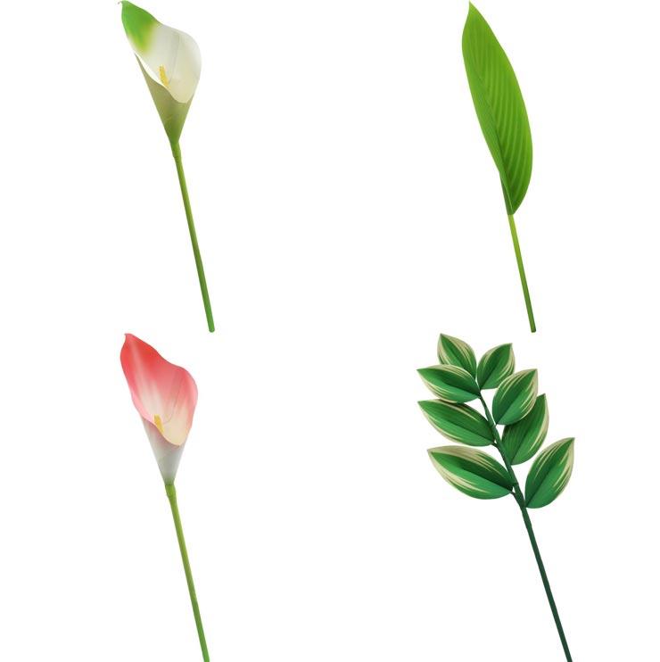 Калла, драцена, купена аптечная, цветы из бумаги