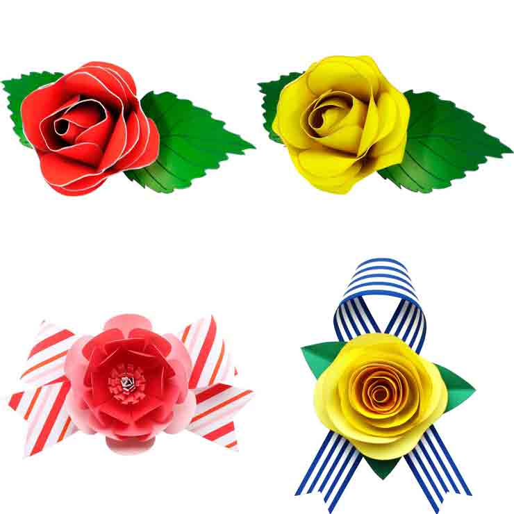 Декоративные розы из бумаги