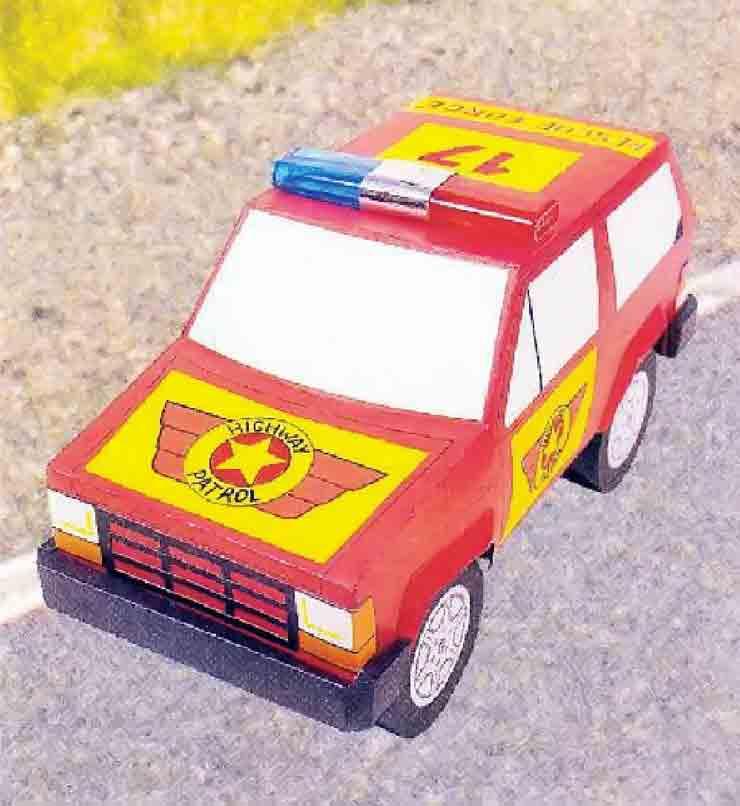 Джип службы спасения, модель из бумаги