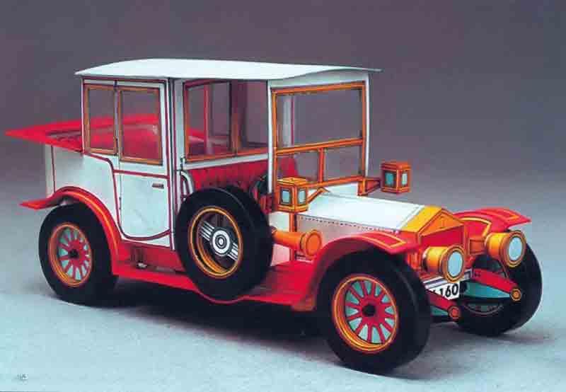 Роллс-Ройс, музей на столе, модель из бумаги