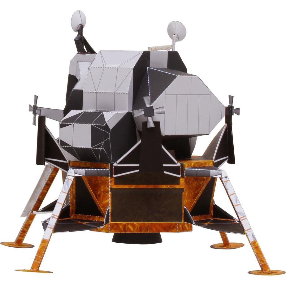 Лунный модуль корабля «Аполлон», модель из бумаги, музей на столе