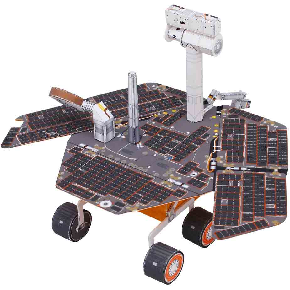 Марсоход MER, музей на столе, модель из бумаги