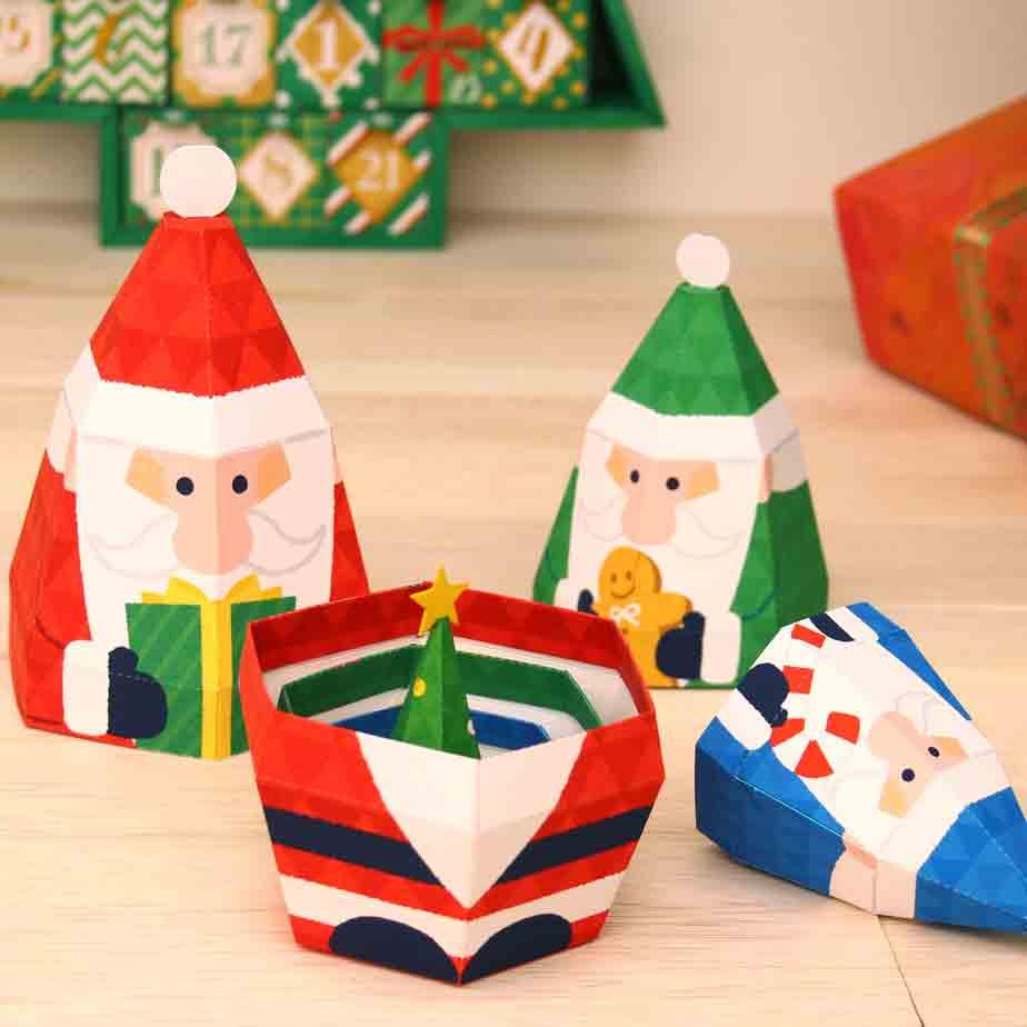 Матрешка Дед Мороз, игрушка из бумаги своими руками