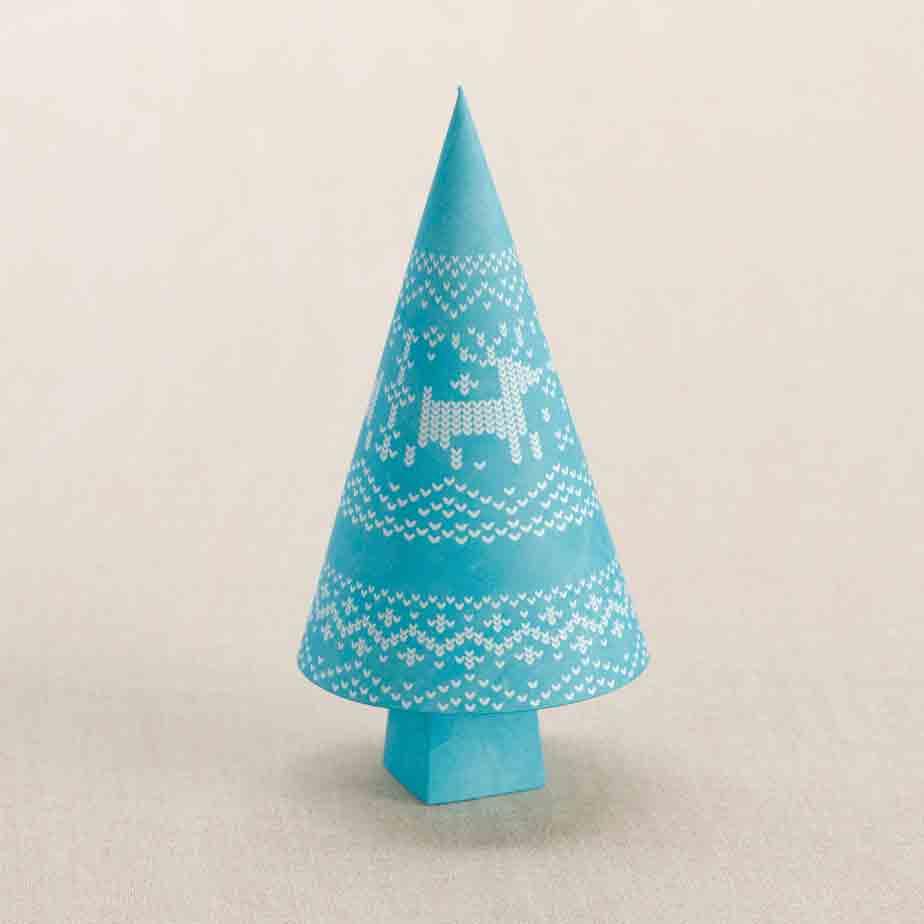 Новогодние деревья, игрушки под елку, сделай из бумаги