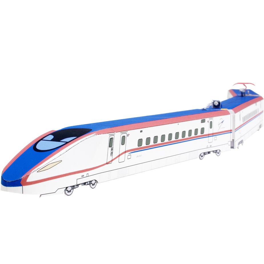 Электропоезд Кагаяки, модель из бумаги, музей на столе