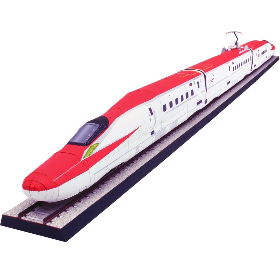 Электропоезд Комати, модель из бумаги, музей на столе