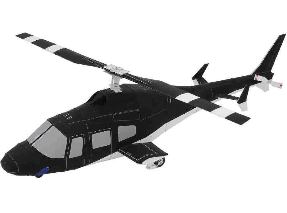 Вертолет, модель из бумаги, музей на столе, ветолет из бумаги