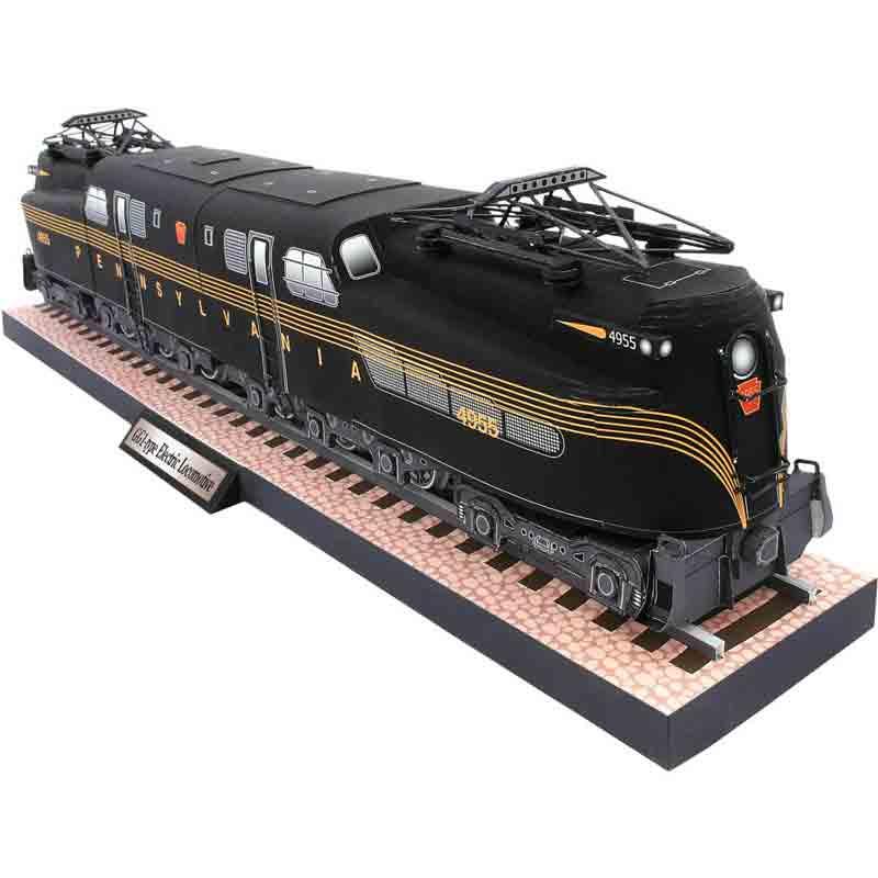 Электровоз типа GG1, музей на столе, модел из бумаги