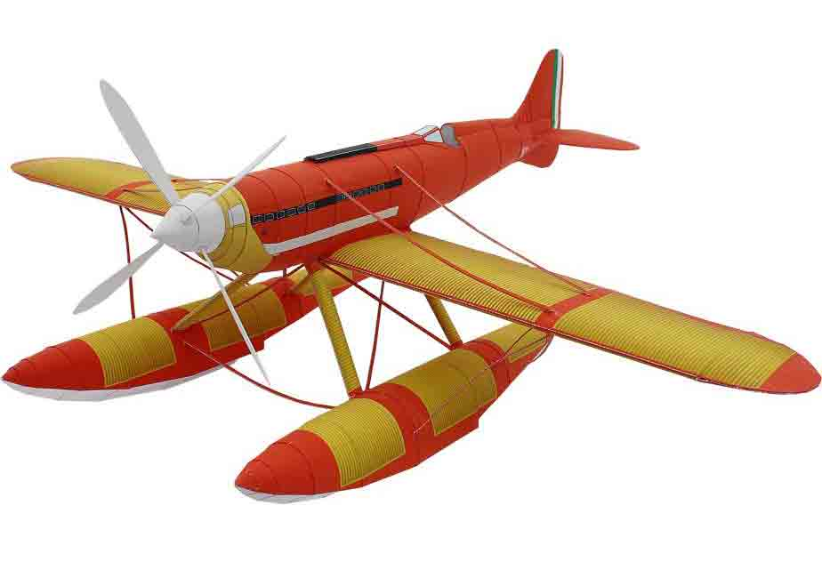 Самолет Гидроплан Macchi M.C. 72, музей на столе, модель из бумаги