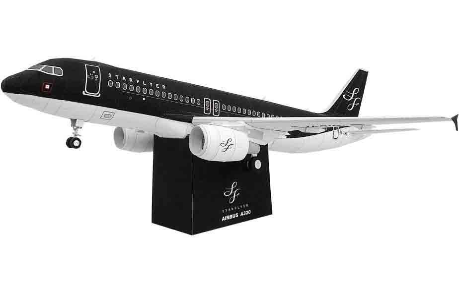 STARFLYER AIRBUS A320, самолет, музей на столе, модель из бумаги
