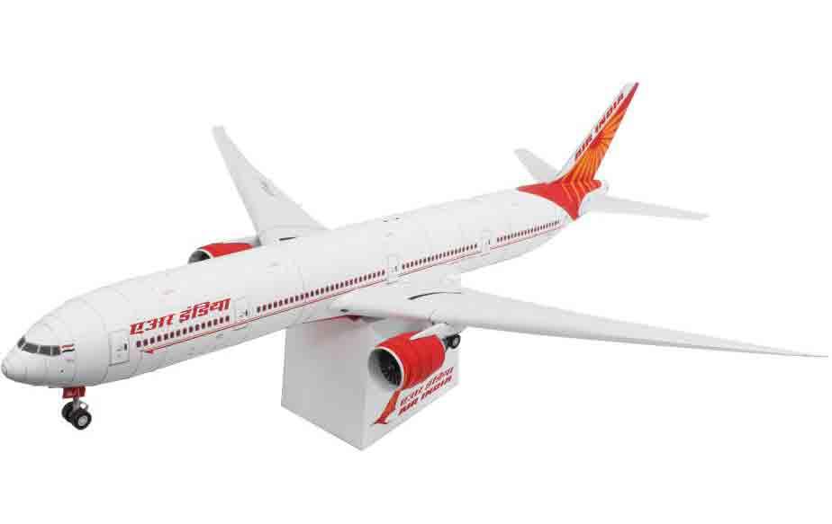 Air India — Boeing777-300ER, самолет, модель из бумаги, музей на столе