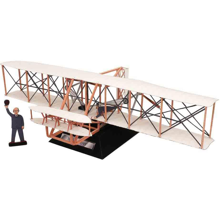 Флайер, самолет, музей на столе, модель из бумаги