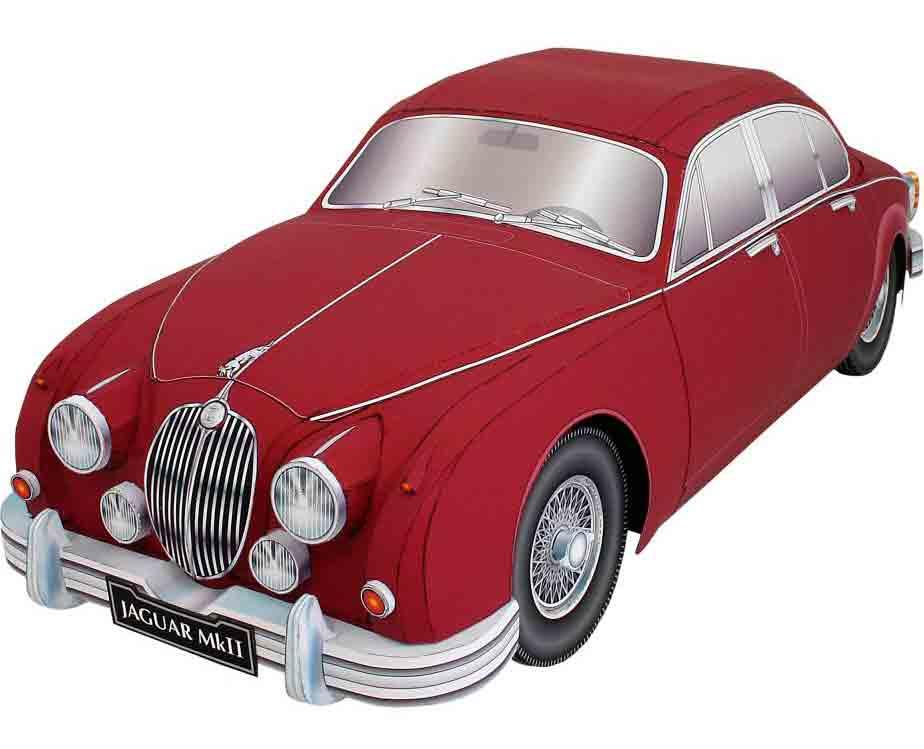 JAGUAR-Mk2 SALOON, легковой автомобиль, модель из бумаги, музей на столе