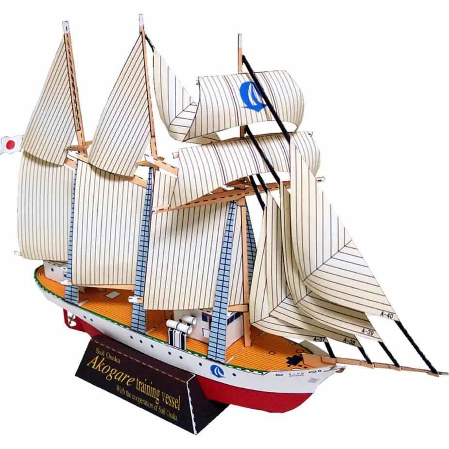 Парусник (Акогаре), корабль, музей на столе, музей из бумаги