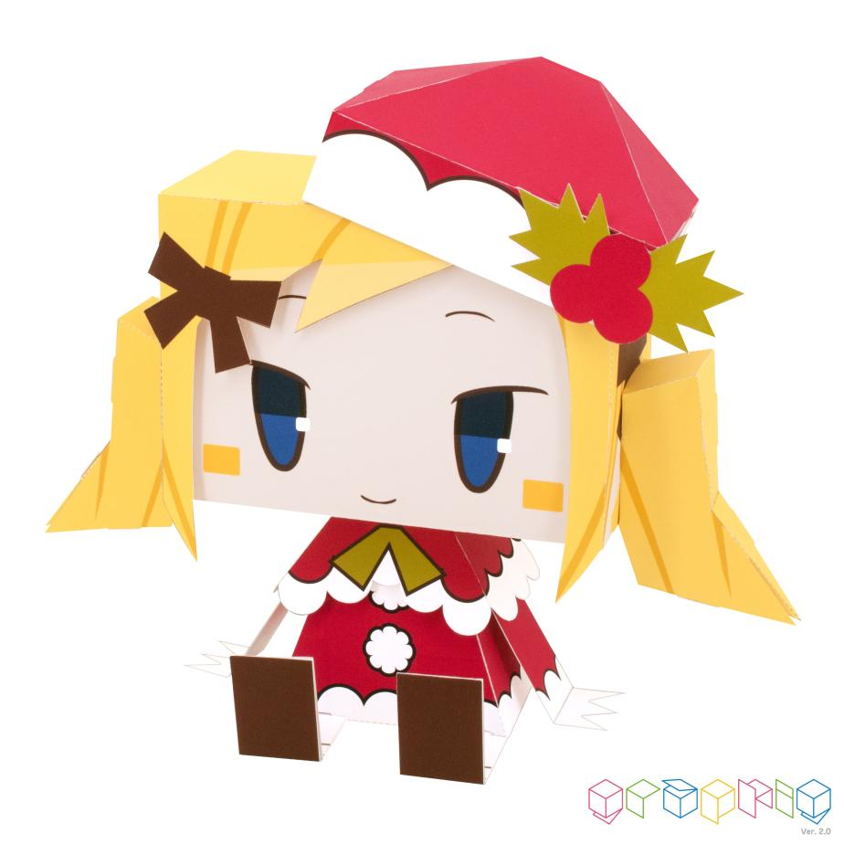 Санта Клаус, Дед Мороз, модель из бумаги, игрушка под елку