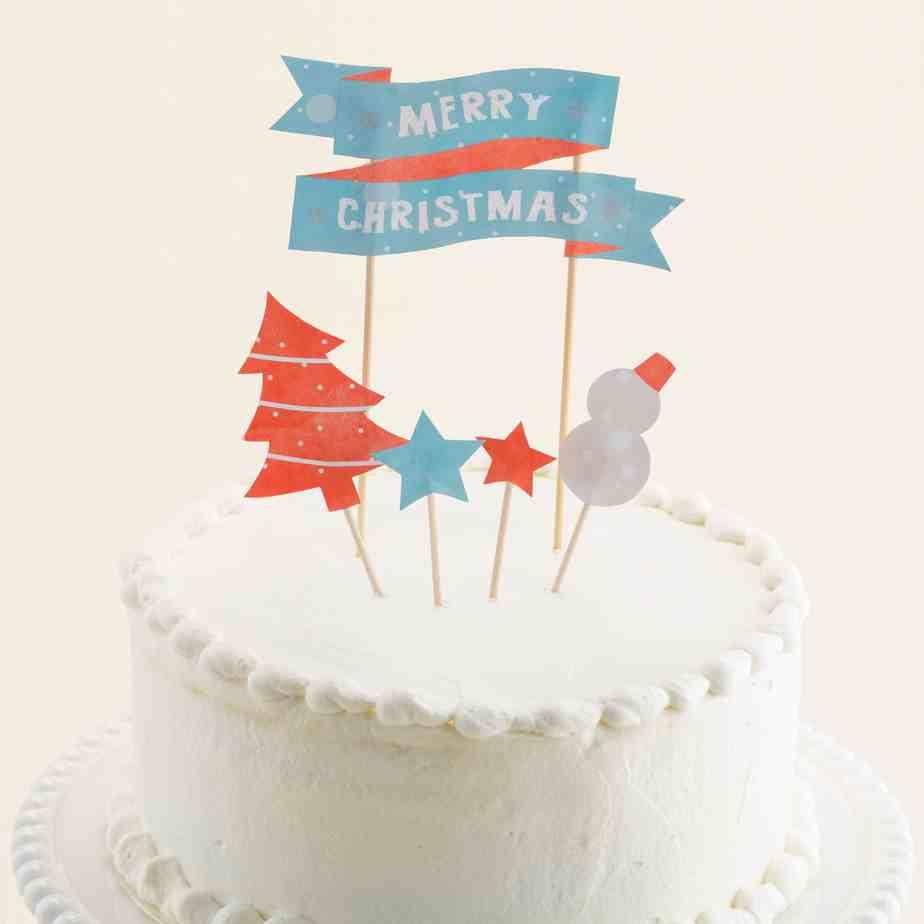 Флажки рождество, модель из бумаги