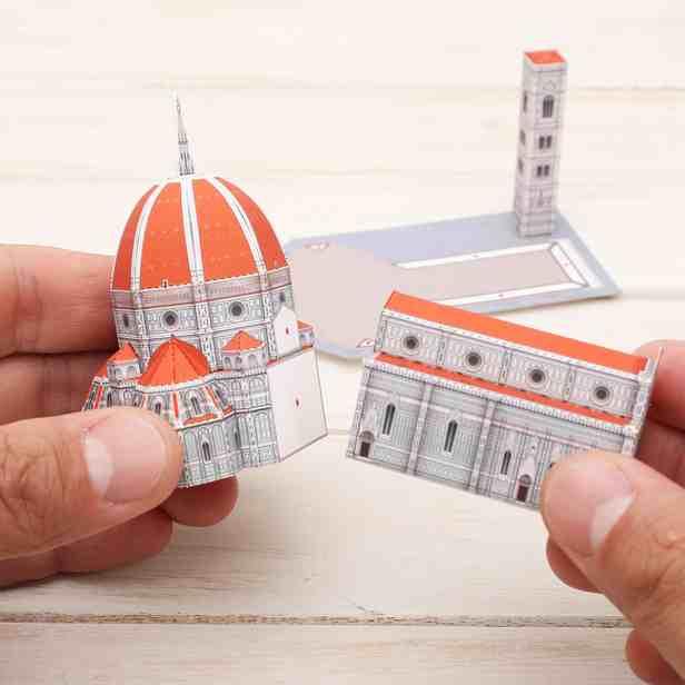 Собор Санта-Мария-дель-Фьоре, Италия (Миниатюра), музей на столе, модель из бумаги
